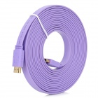 1080P HDMI 1.4 Male to Male Flat Cable - Purple (5m)