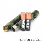 5mW 532nm Green Laser Pointer Pen - Army Green (2 x AAA)