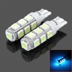 SENCART T10 1.25W 182lm 13-SMD 5050 LED Ice Blue Light Decoration / Brake / Backup Lamp (DC 12V)