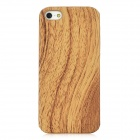 Wood Grain Pattern Protective Plastic + PU Back Case for iPhone 5 - Beige