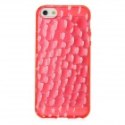 Water Cube Style Protective TPU Back Case for Iphone 5 - Red