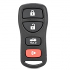 NST030064 Replacement 4-Button Remote Key Cover Shell Case for Nissan - Black