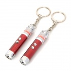 2-LED White Light + Red Laser Taschenlampen Set - Dark Red + Silber (3 x LR44 / 2 PCS)