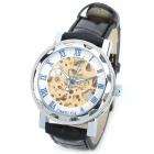 OMEIJIA OMJ-20B Stylish Mechanical Wrist Watch for Men - Black + Silver