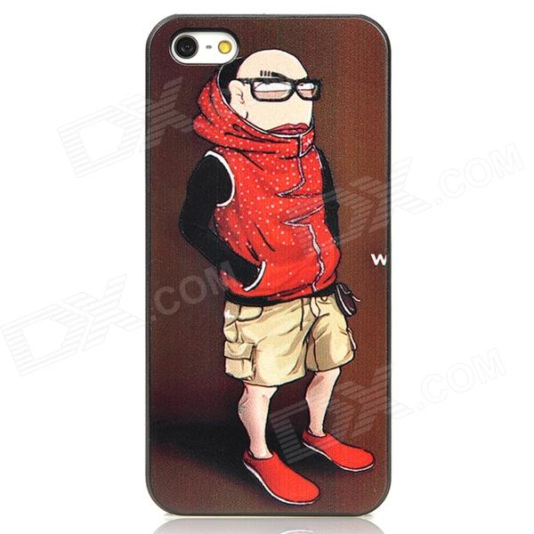 купить Cool Man Relief Style Protective PC Back Case for Iphone 4 / Iphone 4S - Brown + Red недорого