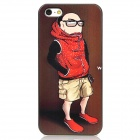 Cool Man Relief Style Protective PC Back Case for Iphone 4 / Iphone 4S - Brown + Red