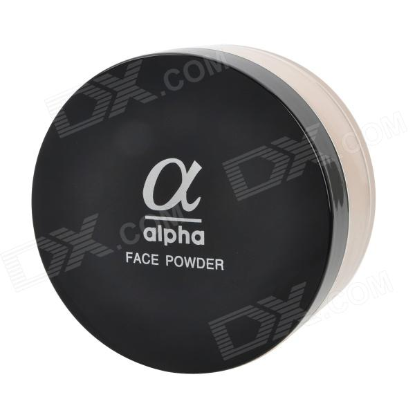 JD-123 02# Cosmetic Makeup Loose Powder w/ Puff - Beige (40g) bob cosmetic makeup powder w puff mirror dark beige 03