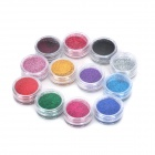 DIY Nail Polish Oil Art Decoration Bead Set - Multicolored (12-Color)