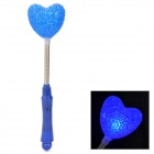 03 Hearts Style Plastic 3-Mode Flashing Blue LED Light - Blue + Silver (2 x AG13 + AG10)