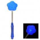07 Flower Style Plastic 3-Mode Flashing Blue LED Light - Blue + Silver (2 x AG13 + AG10)