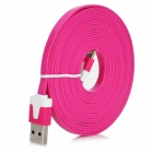8 Pin Blitz Stecker auf USB Stecker Daten / Ladekabel iPhone 5 + More - Rose Red (300cm)