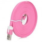 8 Pin Lightning Male to USB Male Data / Charging Cable iPhone 5 + More - Pink (300cm)