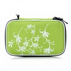 Protective Case Bag for 2.5&quot; HDD Hard Disk Drive - Fluorescent Green + Black