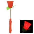 05 Cute Rose Style Plastic 3-Mode Flashing Red LED Light - Red + Silver (2 x AG13+AG10)