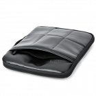 "SENDIWEI Portable Protective PU Leather Sleeve Bag for 14"" Laptop - Black"