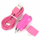 Car Charger w / USB 2.0-Stecker an 30-Pin-Kabel männlich / 30-Pin Female Lightning 8-Pin-Stecker-Adapter