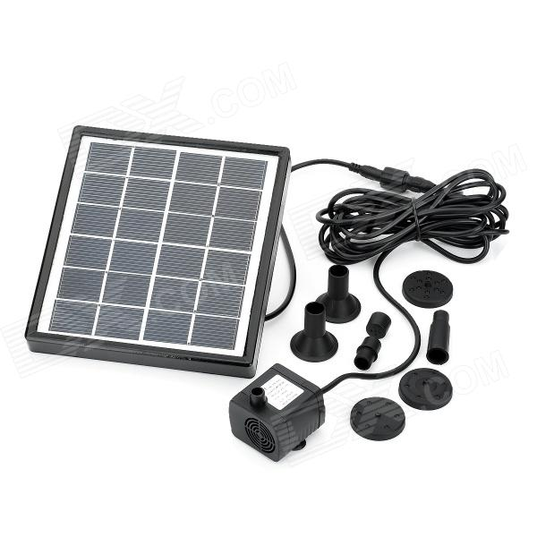 BSV-SP001 Solar Powered Brushless DC Pump Fountain Pool Garden Watering - Black bsv bsv sc007 portable solar charger bag black