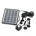 BSV-SP001 Solar Powered Brushless DC Pump Fountain Pool Garden Watering - Black