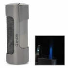 JG-875 Windproof Stainless Steel Butane Jet Torch Lighter - Black