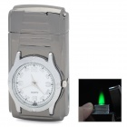 d003 Watch Style Windproof Zinc Alloy Butane Lighter w/ Backlight - Brown