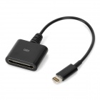 8-Pin Lightning Male to Apple 30-Pin Female Adapter Cable for iPhone 5 - Black