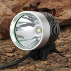 SL-8001 Cree XM-L T6 870lm 4-Mode White Hunting Headlamp / Bicycle Light - Black + Silver (4x18650)