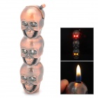 K002 Skull Shaped Copper Aluminum Alloy Butane Lighter - Copper