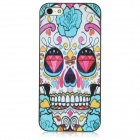 Flower Skull Pattern Protective Plastic Case for Iphone 5 - Multicolored