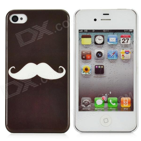 Cas Motif de protection Creative Moustache pour Iphone 4 / 4S - Noir +
