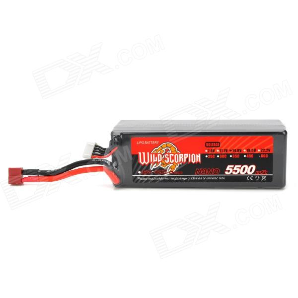 WILD SCORPION Replacement 14.8V 60C 5500mAh Lithium Battery Pack for R/C Helicopter free customs taxes super power 1000w 48v li ion battery pack with 30a bms 48v 15ah lithium battery pack for panasonic cell