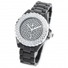 SINOBI 9146 Stylish Crystal Style Quartz Wrist Watch - Black (1 x 626)