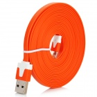 8 Pin Blitz Stecker auf USB Stecker Daten / Ladekabel iPhone 5 + More - Orange (300cm)