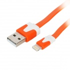 8 Pin Lightning Male to USB Male Data / Charging Cable iPhone 5 + More - Orange (300cm)