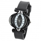 SANDA P062L-B Fashion Lantern Shape Dial Rubber Band Quartz Watch for Women - Black