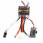 Dual Way 320A Brushed ESC Speed Controller for 1/8 & 1/10 R/C Car / Boat - Black + Silver + Red