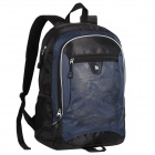 Oiwas 4001 Water Resistant Casual Nylon Outdoor Travel Backpack Bag - Blue + Black (32L)