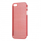 Mesh Style Protective Aluminum Alloy Back Case for Iphone 5 - Red