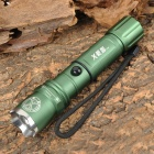 3-Mode White Zooming Crown Head Flashlight - Dark Green (1 x 18650 / 3 x AAA)