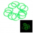 16mm Water-tight Luminous Fluorescence O-Ring Seal - Green (10 PCS)