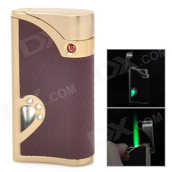 Windproof Stainless Steel Butane Jet Torch Lighter - Brown + Golden (3 x LR621) аксессуар сумка 17 6 jet a lb17 02 brown