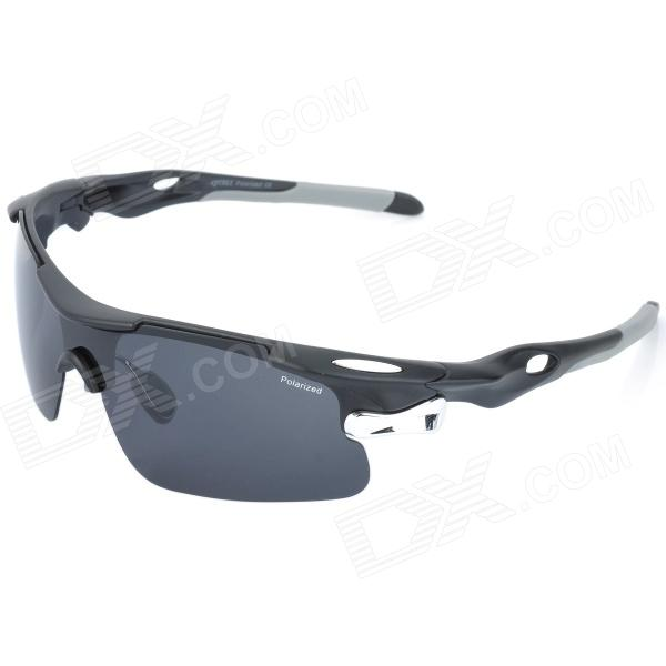 CARSHIRO 9358 Outdoor Sport Riding Protection Sunglasses - Black + Grey