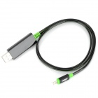 USB 8Pin Blitz Cable w / Flowing Visible Light for iPhone 5 / iPad 4 - Schwarz + Grün (83cm)