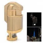 BN617 Windproof Stainless Steel Butane Jet Torch Lighter - Golden (3 x LR621)
