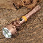Smiling Shark SS-114 Cree XM-L T6 700lm 5-Mode White Flashlight - Bronze (1/2 x 18650)