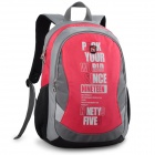 Oiwas 4089 Water Resistant Casual Nylon Student's Notebook Backpack Bag - Red (21L)