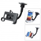 LSON 360 Degrees Car Mount Holder w/ Suction Cup for Samsung Galaxy S2 i9100 - Black