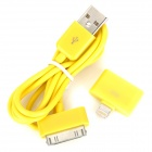 USB Cable + Apple 30Pin Female to 8Pin Lightning Male Adapter for iPhone 5 / iPad Mini / iPad 4