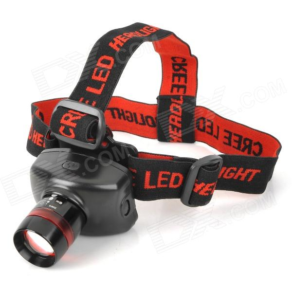 OSRAM LED 60lm 3-Mode White Zooming Headlamp - Black + Red (3 x AAA)