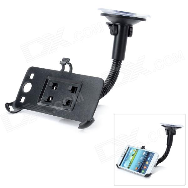LSON 360 Degrees Car Mount Holder w/ Suction Cup for Samsung Galaxy S3 i9300 - Black