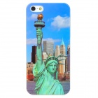 Statue Liberty Pattern Protective Back Case for Iphone 5 - Blue + Green
